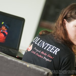 Denise working on our Slow Loris Forest Protector book session
