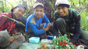 Aconk, Dendi and Adin, our amazing trackers