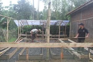 - Yiyi and Adin building the tree nursery