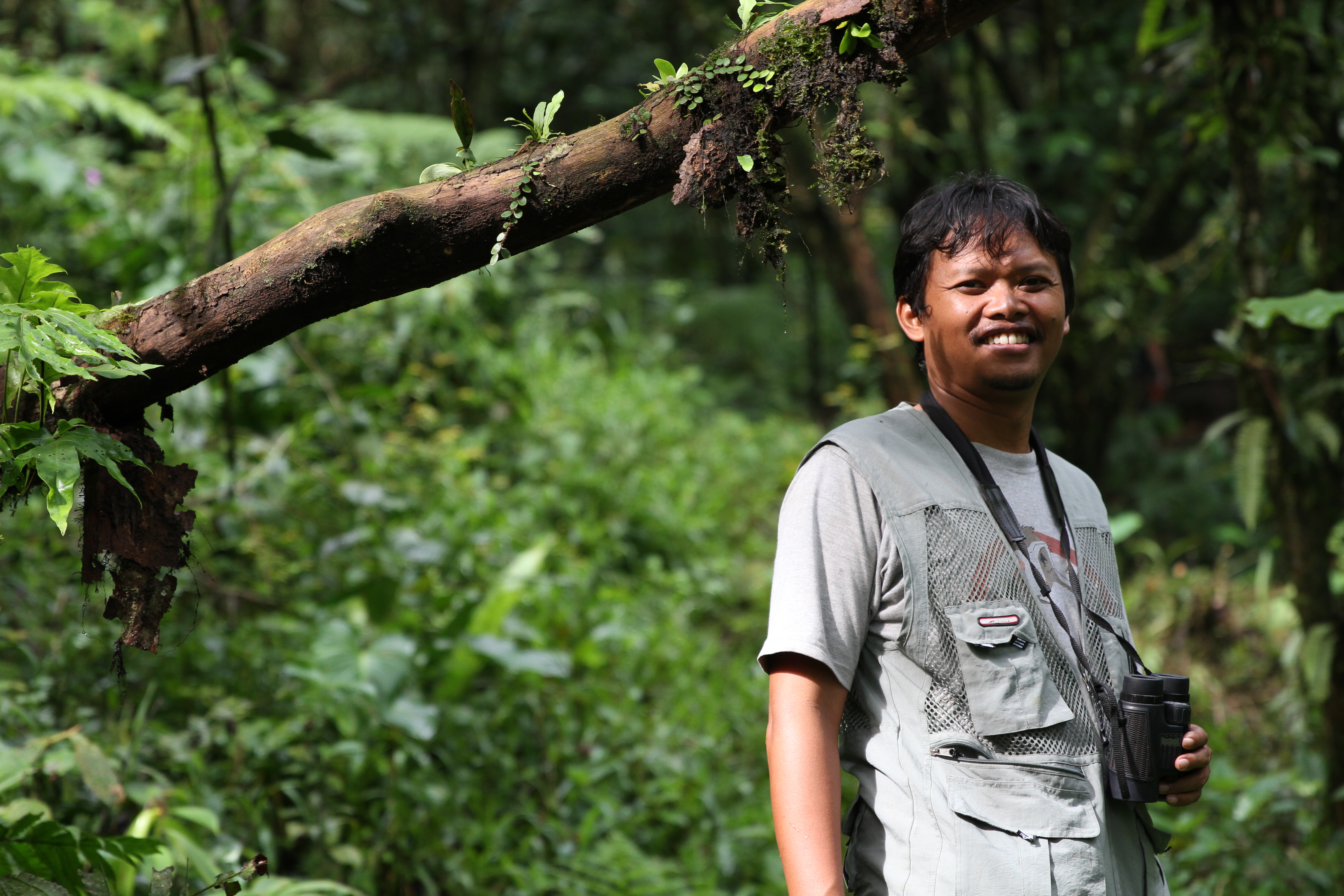 Wawan guiding us through the forest!